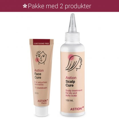 face cure og scalp cure ved eksem i ansigtet astion pharma